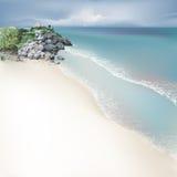 Playa tropical [1] ilustración del vector