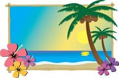 Playa tropical ilustración del vector