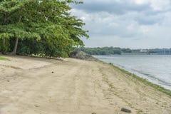 Playa tropical abandonada fotografía de archivo