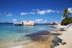 Playa tropical de British Virgin Islands Imágenes de archivo libres de regalías