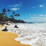 Playa tropical de la isla de Hawaii Kauai Foto de archivo