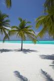 Playa tropical de Maldives Foto de archivo libre de regalías