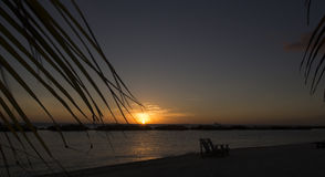 Playa tropical del Caribe Fotos de archivo libres de regalías