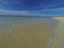 Playa tropical del Fijian imagenes de archivo
