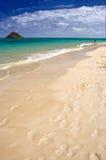 Playa tropical del icono fotografía de archivo libre de regalías