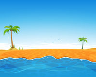 Playa tropical del verano stock de ilustración
