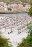 Playa tropical en día de fiesta del turista del verano Imágenes de archivo libres de regalías
