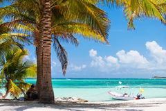 Playa tropical en México Imagenes de archivo