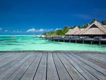 Playa tropical en Maldivas imagen de archivo