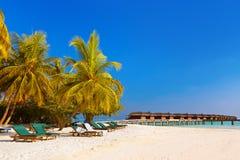 Playa tropical en maldives Fotografía de archivo
