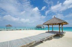 Playa tropical en maldives foto de archivo