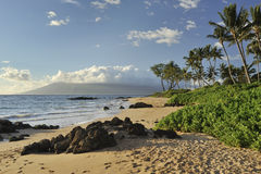 Playa tropical en Maui Imágenes de archivo libres de regalías