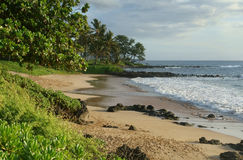 Playa tropical en Maui foto de archivo