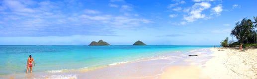 Playa tropical en Oahu Imagenes de archivo