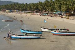 Playa tropical en Palolem, Goa, la India imagenes de archivo