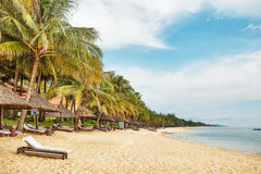 Playa tropical exótica Imagen de archivo libre de regalías