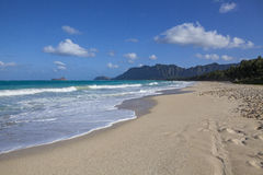 Playa tropical hawaiana Imagen de archivo