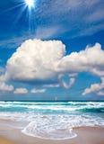 Playa tropical hermosa Fotos de archivo