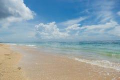 Playa tropical hermosa con la vegetación enorme imagen de archivo