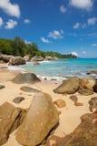 Playa tropical intacta en Sri Lanka Fotos de archivo libres de regalías