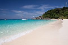 Playa tropical, islas de Similan, mar de Andaman, Tailandia Foto de archivo