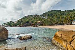 Playa tropical Koh Samui, Tailandia isla del paraíso del paisaje Fotografía de archivo