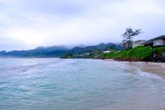 Playa tropical Oahu Hawaii del paraíso fotos de archivo libres de regalías