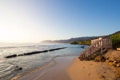 Playa tropical Oahu Hawaii del paraíso fotos de archivo