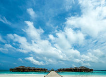 Playa tropical perfecta del paraíso de la isla Imagen de archivo libre de regalías