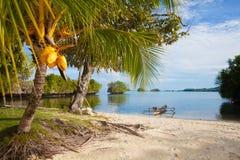 Playa tropical sin tocar de la foto en la isla de Bali Imagen horizontal Fotos de archivo