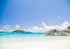 Playa tropical tocada en la isla similan Fotografía de archivo