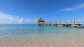Playa tropical Vacaciones de verano en el mar del Caribe metrajes
