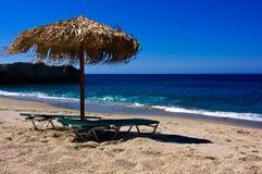 Playa Umbrela Imagen de archivo libre de regalías