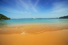 Playa Unawatuna, Sri Lanka de la selva Foto de archivo