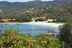 Playa Unspoiled en Cerdeña foto de archivo