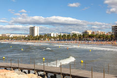 Playa urbana Fotografía de archivo libre de regalías
