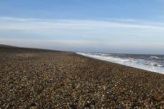 Playa vacía de Suffolk Fotos de archivo libres de regalías