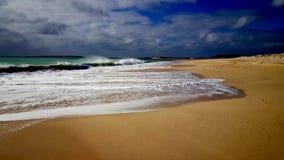 Playa vacía en la boa Vista fotos de archivo