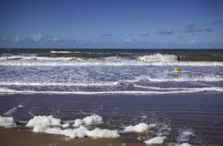 Playa vacía en Normandía Francia Imagen de archivo