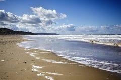 Playa vacía en Normandía Francia Imagenes de archivo