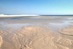 Playa vacía en la isla de Bazaruto Foto de archivo libre de regalías