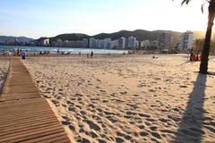 Playa Valencia España de Cullera Fotos de archivo