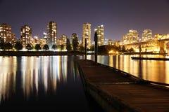 Playa Vancouver de la puesta del sol Fotos de archivo