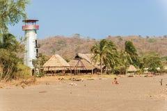 Playa Venao cerca de Pedasi en Panamá fotos de archivo