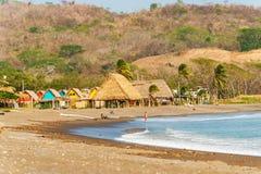 Playa Venao nära Pedasi i Panama royaltyfria bilder