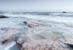 Playa ventosa Fotografía de archivo libre de regalías
