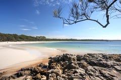 Playa verde Australia del remiendo Fotografía de archivo