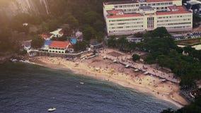 Playa Vermelha al piede di Sugar Loaf Mountain Fotografie Stock