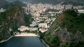 Playa Vermelha bij de voet van Sugar Loaf Mountain stock foto