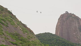 Playa Vermelha at the foot of Sugar Loaf Mountain stock video footage